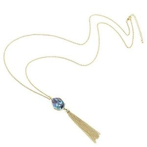 Anthropologie abalone Tassel Necklace